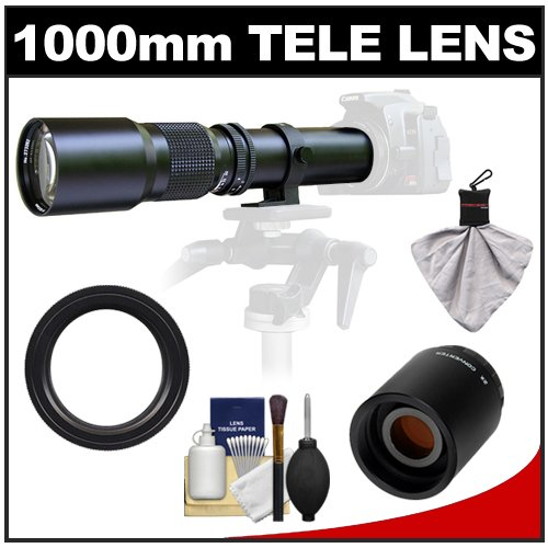Samyang 500Mm F/8.0 Telephoto Lens With 2X Teleconverter (=1000Mm) For Canon Eos 60D, 7D, 5D Mark Ii Iii, Rebel T3, T3I, T4I Digital Slr Cameras
