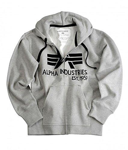 Industries Alpha-Felpa con cappuccio, da uomo, colore: nero