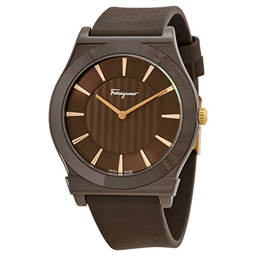 Salvatore Ferragamo Men's FQ3030013 1898 Brown Ion-Plated Coated Stainless Steel Leather Watch image