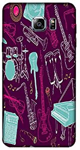 Timpax Protective Hard Back Case Cover With access to all controls and ports Printed Design : Musical instruments .Compatible with Samsung Galaxy Note 5 ( N920G )