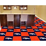 Denver Broncos NFL Team Logo Carpet Tiles