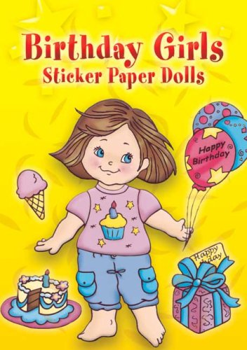 Birthday Girls Sticker Paper Dolls