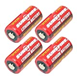 SureFire SF123A 3-Volt Lithium Battery-4-pack
