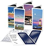 MoonBeams Shorelines, Beach Greeting Cards Assortment (lunar calendar 2015 inside), 8 set