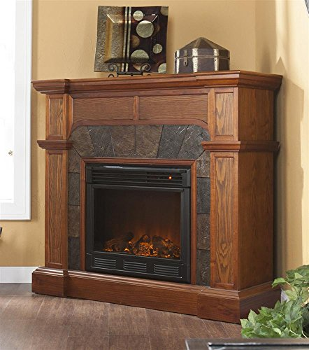 Cartwright Mission Fireplace Oak/Electric