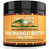 Raw Mango Butter (16 oz) with RECIPE EBOOK - Perfect for All Your DIY Home Recipes like Soap Making, Lotion, Shampoo, Lip Balm and Hand Cream - Bulk Organic Unrefined Mango Butter is Great for Scars