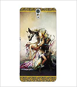 PrintDhaba Beauty and the Beast D-2526 Back Case Cover for SONY XPERIA C5 ULTRA (Multi-Coloured)