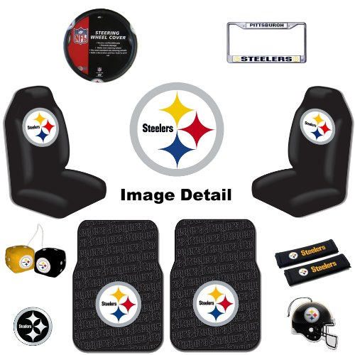 pittsburgh steelers fuzzy dice steelers fuzzy dice steeler fuzzy dice. Black Bedroom Furniture Sets. Home Design Ideas