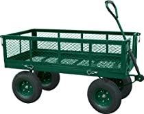 "Big Sale Sandusky Lee CW Steel Crate Wagon, Green, 1000 lbs Load Capacity, 27-3/8"" Height, 48"" Length x 24"" Width"