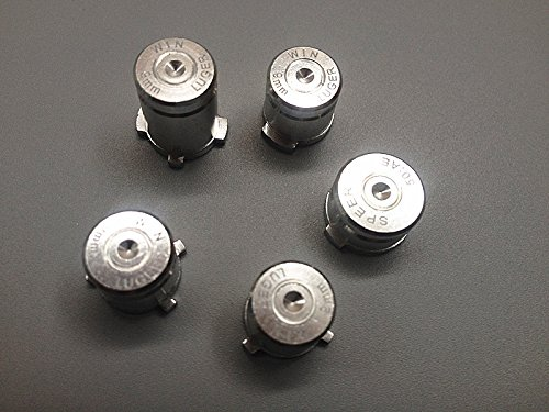 XMY Silver Metal Bullet ABXY+Guide Buttons Mod Kit per Microsoft Xbox One Controller Regler NEW