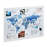 Magnetische Karten zum Zeichnen, Festpinnen und zum Planen Ihrer Reisen (Welt Flagge)