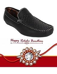 Rakhi Gift For Brother, Loafer Shoes With Free Rakhi(Rakhi Design May Vary)