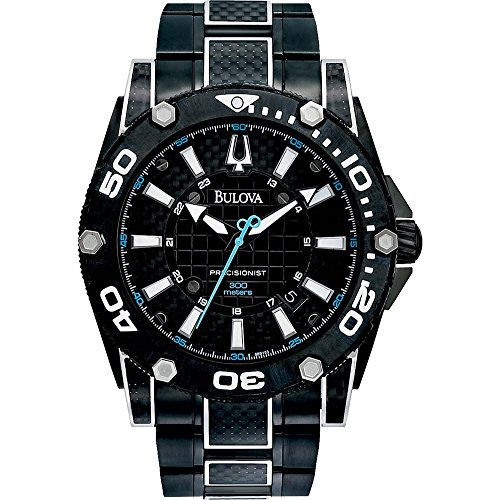 Bulova Men's 98B153 Precisionist Champlain Steel + black ion Watch