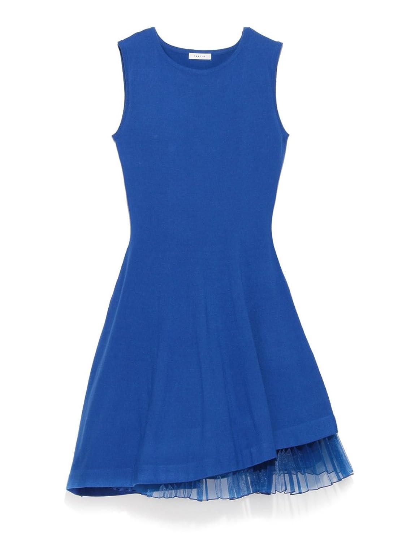 (フレイ アイディー)FRAY I.D アシンメトリーホールワンピ FWNO161561 86 BLU F : 服&ファッション小物通販 | Amazon.co.jp