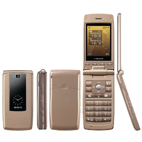 SIMフリー・モバイル出品FOMA LG L-03A珍しGPS無 簡単携帯SIMロック解除済み (ゴールド)