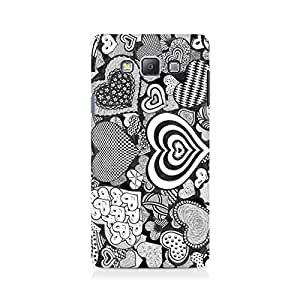 Ebby Heart Doodle Premium Printed Case For Samsung On 7
