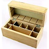 Wood Box Storing Safely Gold Test Kit Holds 9 Slots Testing Acid Bottles Stones