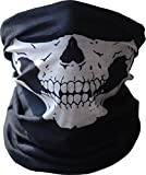 Diageng Black Seamless Skull Face Tube Mask BUFF-Thin