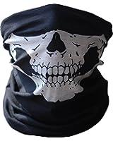 Diageng Black Seamless Skull Face Tube Mask BUFF-Thin