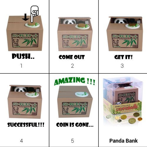 Virtuous * Cute Stealing Money Box Coin Bank / Cool Gadgets Electronic Monkey - Novelty Toys Plastic Saving Piggy Bank for Girls & Boys or for Kids & Adults (Sweet Monkey)