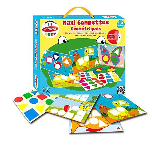 Joustra - 41910 - Maxi Gommettes Géométriques Repositionnables - Carnet pelliculé