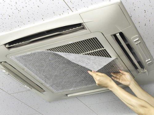 クリーンフィルターⅡ114 2枚入り エアコン吸気口に 貼るだけで空気清浄 天井埋込型57cm×114cm