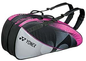 ヨネックス(YONEX) ラケットバック 6 (リュック付き、テニス6本用) ブラック×パープル BAG1522R
