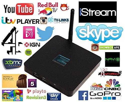 Internet Television Box - Satellite TV Box - Stream Box - Free Movie Streaming Device - 4DX Quad Core Media Box - HD TV Box - Streaming Android TV (Free Tv Box compare prices)