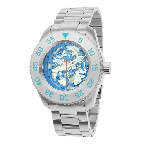 Android Men's Divemaster Maxjet Skeleton Automatic Stainless Steel Bracelet Watch