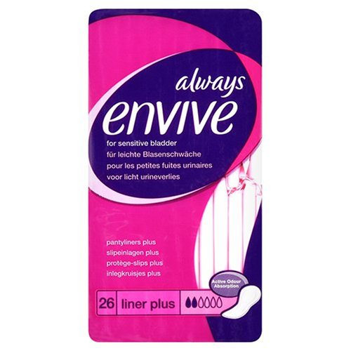 Always Envive Plus Incontinence Panty Liners for Sensitive Bladders x 26