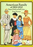 American Family of 1900-1920 Paper Dolls in Full Color