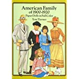 American Family of 1900-1920 Paper Dolls in Full Color ~ Tom Tierney