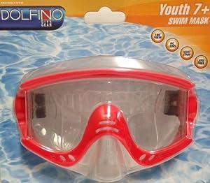 Buy Dolfino Dive Gear Youth Swim Mask-Red by Dolfino