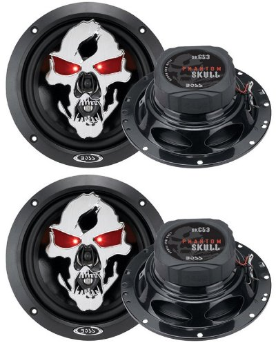 "4) New Boss Skull Sk653 6.5"" 700W 3 Way Car Coaxial Audio Speakers Stereo"