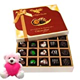 Valentine Chocholik Premium Gifts - Love Celebration Of Chocolate Box With Teddy