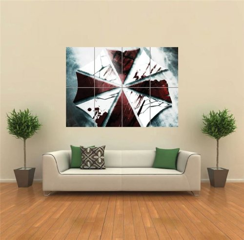 VIDEO GAMES RESIDENT EVIL UMBRELLA CORP NEW GIANT ART PRINT POSTER G1529 (Umbrella Foto compare prices)