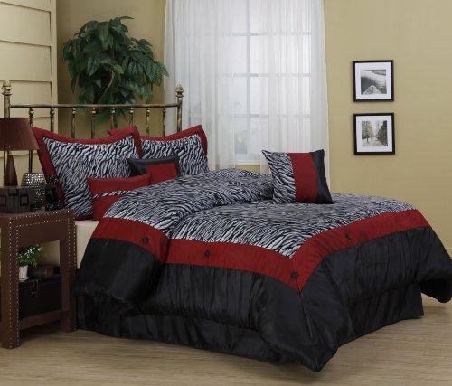 Red Zebra Bedding front-155355