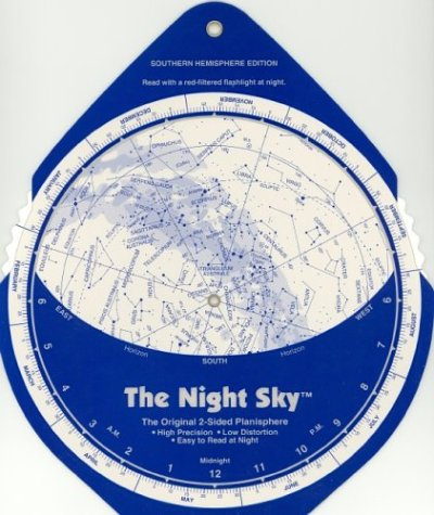 The Night Sky, Southern Hemisphere (Large) Star Finder