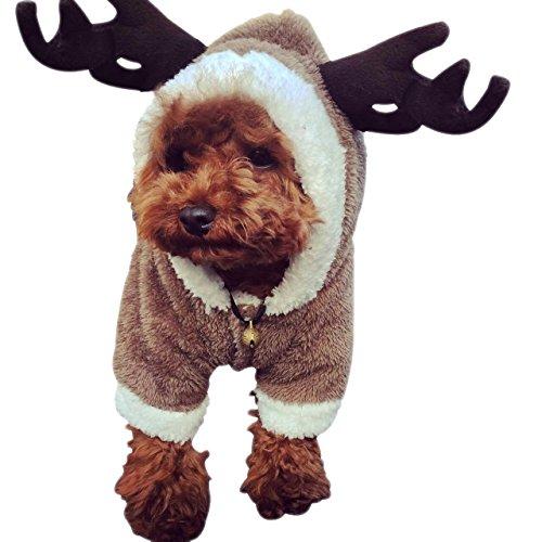 HFUN Winter 4 Foot Dog Costume Natural Beiji Rong&Cotton Velveteen Double Warm Convenient Snap-fastener (Dallas Cowboy Toddler Cheerleader Costume)