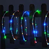 100 LED multicolour Solar Rope Tube Starry String Garden Light 17 feet long total length - waterproof for Outdoor - Patio - Gardens - Homes - Party - Christmas - Holiday Wedding - etc