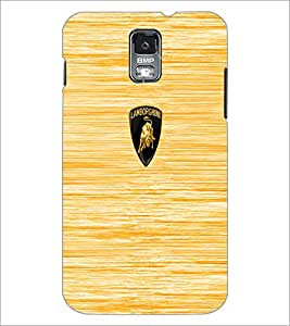 PrintDhaba Logo D-5530 Back Case Cover for SAMSUNG GALAXY S5 (Multi-Coloured)