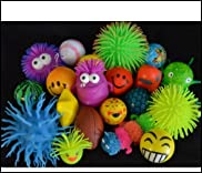 Stress Balls and Squeeze Toys Value Assortment 20 (plus 1 bonus) per pack