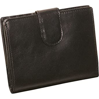 Derek Alexander Leather Ladies Medium Credit Card Wallet - Black
