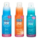 Durex Play Feel + Tingle + Warming Lubricants (3 Pack)