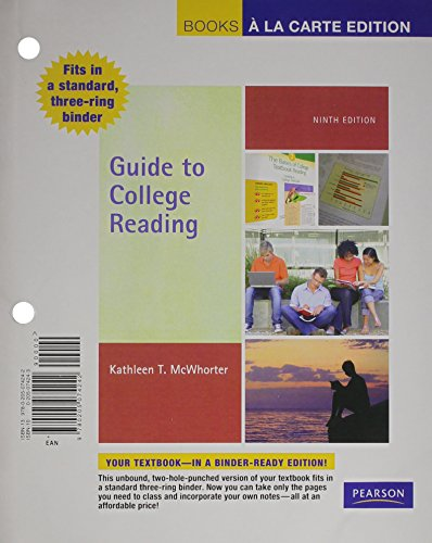 Guide to College Reading, Books a la Carte Plus MyReadingLab with eText -- Access Card Package (9th Edition)