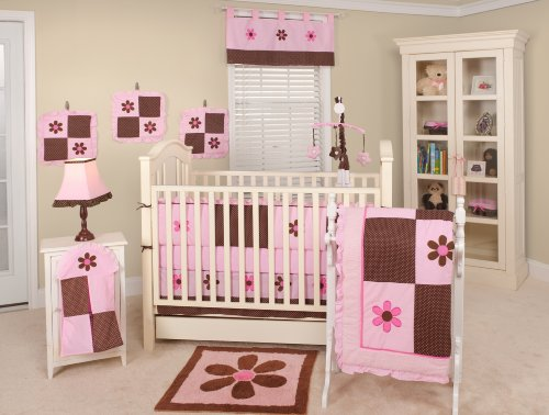 Nursery-To-Go Pam's Petals Bedding 10 Piece Crib Set