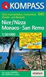Nizza (Nice) / Monaco / San Remo 1 : 50 000: Wander- und Bikekarte - Carta escursionistica, cicloturistica -
