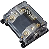 DB Link NANLFB02 0 AWG In/ (2) 4 AWG Out-2 Position ANL Power Distribution Fuse Block with Clear Heat Resistant Plastic Housing