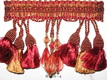 SALSA COLLECTION - Tassel Fringe - Ruby/Copper