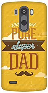 The Racoon Lean Super Dad hard plastic printed back case/cover for LG G3